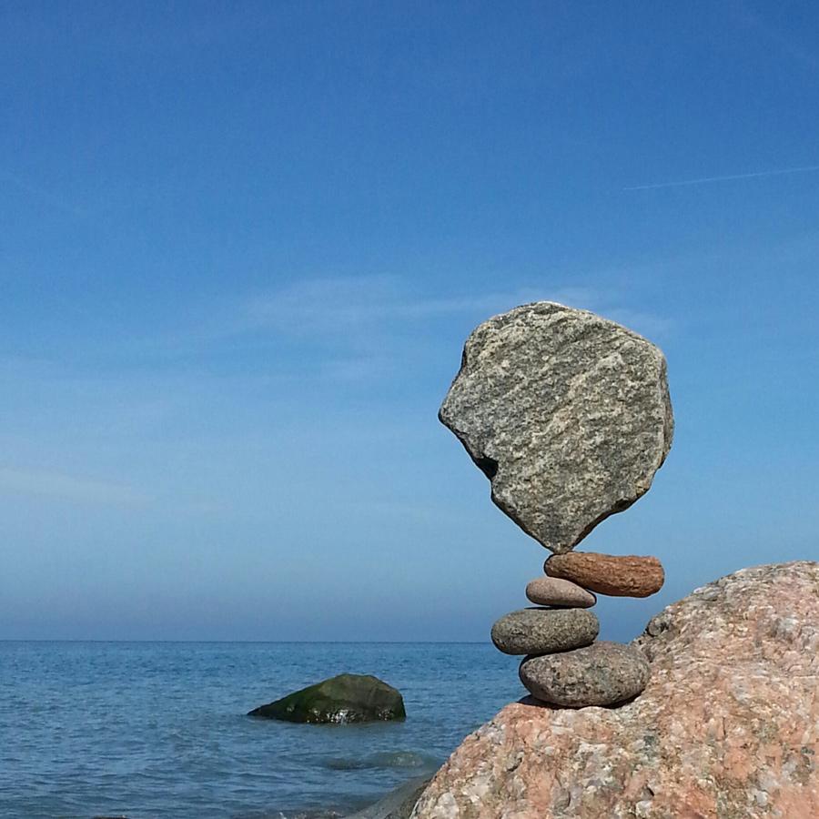 Ostern 2016 - Stonebalance in Rerik